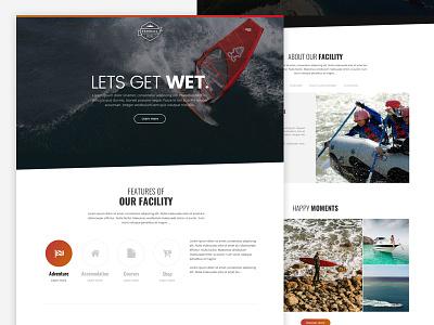 Farreus - Artbees Themes jet ski scuba rafting beach surfing water sports red orange gradient ux ui website