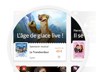 Thumbnail Ice Age live! tiny improvements webdesign thumbnail paper iceage ui place name activity close-up detail