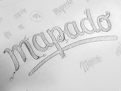 Mapado logo - Lettering sketch lettering draft sketch