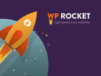 Wp Rocket identity logo rocket colors illustration
