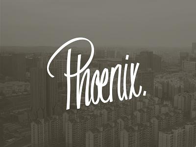 Phoenix lettering lettering phoenix challenge hand-drawn vector movement