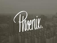 Phoenix lettering