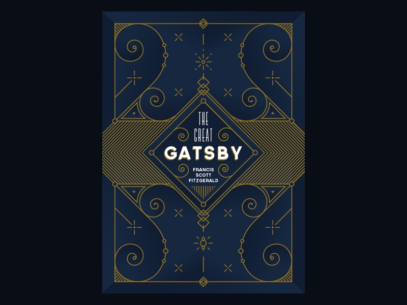 The Great Gatsby book cover book cover gatsby ornaments floral art deco classic noise