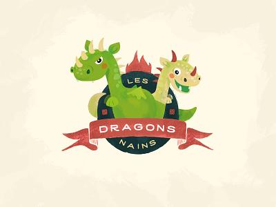 Dwarf Dragons - Les Dragons Nains dwarf dragons illustration vintage branding logo