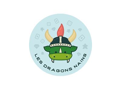 Dwarf dragons sticker illustration dragon sticker icon