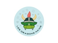 Dwarf dragons sticker