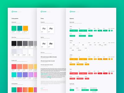 Unow Design System - UI kit sketch responsive design kit library component product design branding ui kit design system