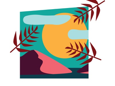 Island In The Sun vector logo art vintage illustration design graphic design