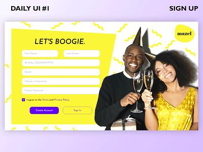 "Daily UI 1 - ""Sign Up"" branding ui graphic design signupform signup dailyuichallenge dailyui 001 dailyui"