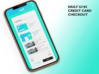 Daily UI #2 Credit Card Checkout vector ux ui branding design graphic design dailyuichallenge