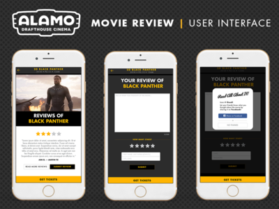 Alamo Drafthouse Movie Review User Interface