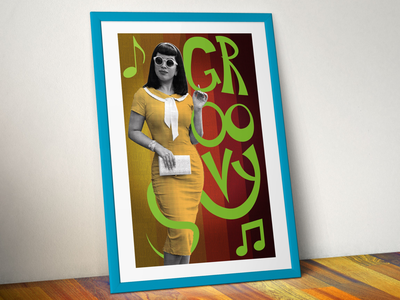 Groovy! print design illustrator photoshop pinup 60s