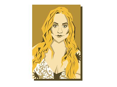 Carly Portrait vector design graphic design pinup vintage texas illustration art