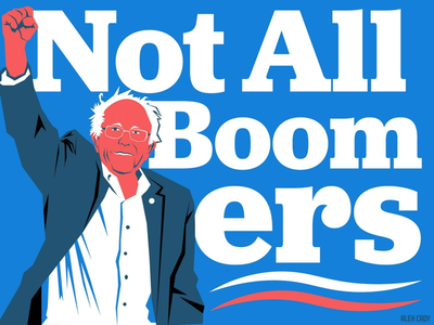 Not All Boomers design graphic design illustration bernie sanders