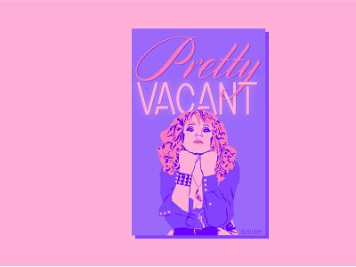 Portrait of Nancy Spungen type design typography punks punk rock art vector illustration design graphic design