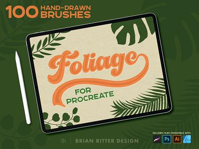 Foliage for Procreate foliage plants illustration vector procreate brushes