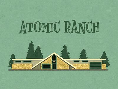 Atomic Ranch_BRD_11-18-20 illustration drawing ranch house mid-century mid-century modern retro atomic procreate brushes procreate art procreate app