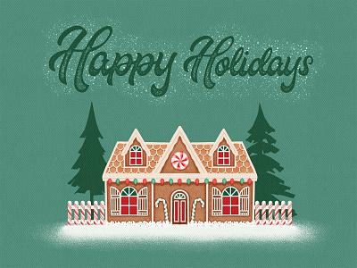 Gingerbread House_BRD_12-7-20 procreate brushes procreate art illustration happy holidays house gingerbread