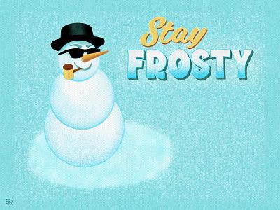 Snowman_BRD_12-12-20 snow procreate brushes procreate art illustration christmas holidays frosty snowman