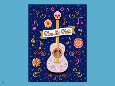 Guitar Illustration_BRD_1-30-21 illustration procreate illustration procreate brushes procreate art music viva la vida guitar