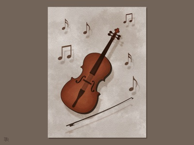 Cello_BRD_1-31-21 procreate brushes procreate art watercolor brushes illustration music cello