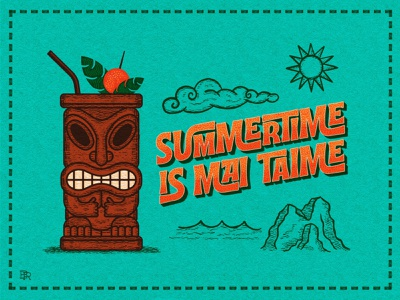 Summertime is Mai Taime_BRD_6-14-21 illustration procreate art procreate brushes beach design