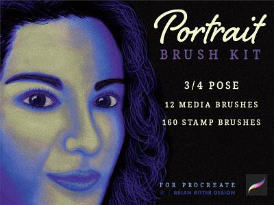 Portrait Brush Kit_BRD_7-29-21 procreate portrait design illustration procreate brushes