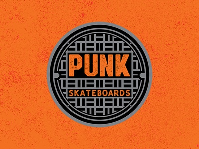 Punk Skateboards Logo BRD 12 4 18