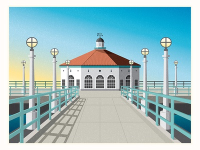Manhattan Beach Pier Illustration
