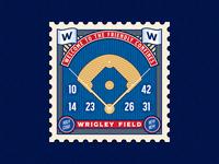 Wrigley Field Postage Stamp Concept BRD 2-7-19
