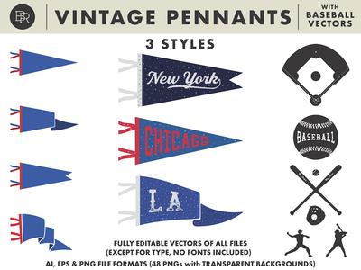 Vintage Sports Pennants_BRD_3-18-19