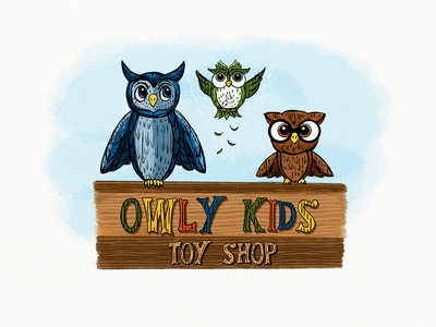 Owly Kids Toy Shop Illustration/Mural BRD_3-22-19