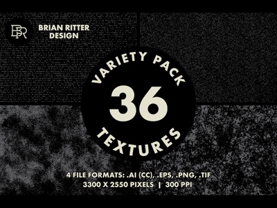 Textures Variety Pack BRD 8-6-19 photoshop illustrator texture overlays textures