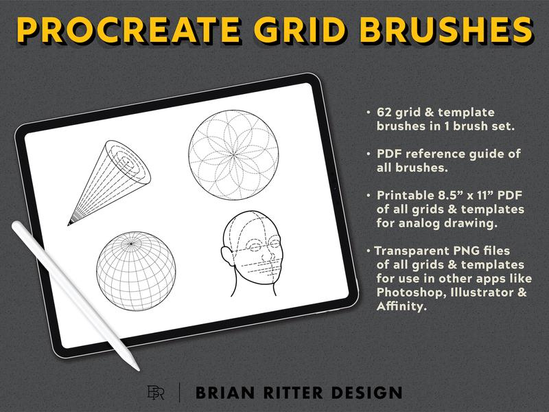 Procreate Grid Brushes_BRD_9-14-19 drawing brushes drawing aids grid builder grids procreate brushes procreate app procreate