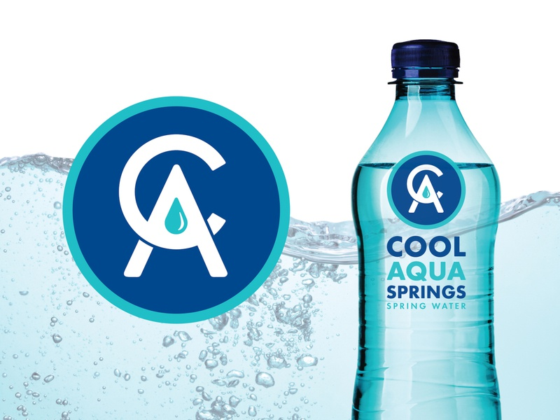 Cool Aqua Springs logo BRD 9-23-19 aqua cool spring water branding springs branding design illustrator logo