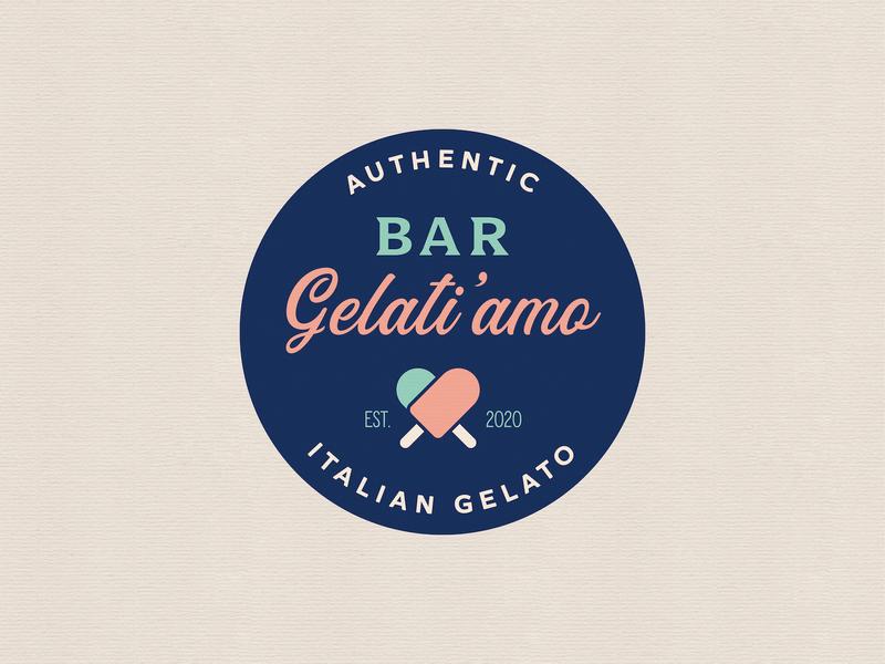Bar Gelati'amo logo_BRD_10-2-19 ice cream illustrator vector branding design logo gelato