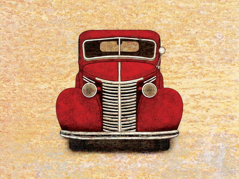 Vintage Truck Illustration #3_BRD_10-3-19 procreate app illustration pickup truck truck rusty old rustic retro vintage