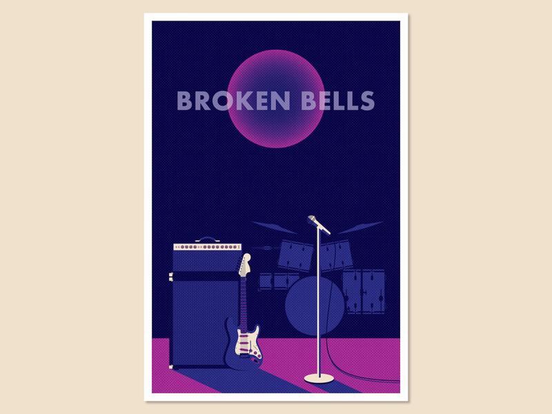 Gig Poster Concept_BRD 10-21-19 concert music illustrator high contrast vector illustration poster gig poster
