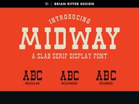 Midway - Slab Serif Font