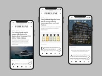 Pure Luxe | Online Magazine - On Behance Now! identity magazine branding typography design ui