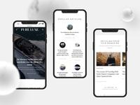 Pure Luxe | Online Magazine - On Behance now! website webdesign ux magazine branding logo typography design ui
