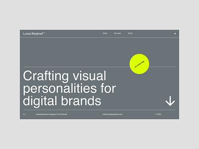 Motion Exploration 0028 portfolio website minimal visual identity identity motion motion graphics animation webdesign branding logo berghoef typography ui design