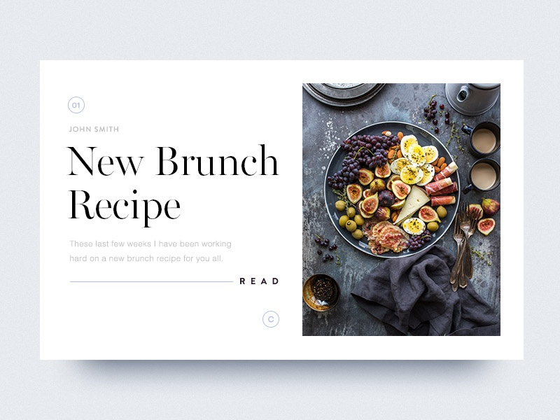 Daily Dose of Design: 033 brunch food blog article card lucas berghoef daily dose of design ddod