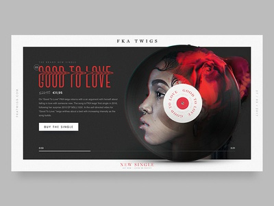 FKA twigs - The 'Good to Love' LP