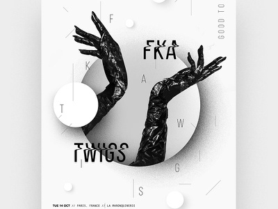 Tour Poster - FKA twigs vogue hands white black poster tour fka twigs