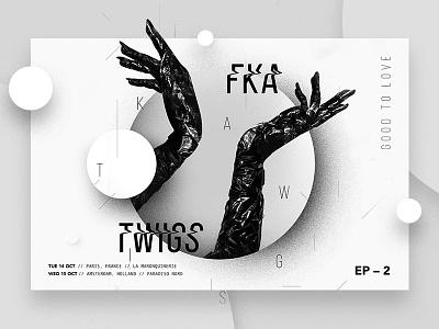 FKA twigs | Full Project on Behance white black berghoef lucas mobile webshop item single art album fka twigs