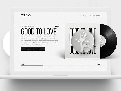 FKA twigs | Single Item Webshop (Desktop) white black berghoef lucas mobile webshop item single art album fka twigs