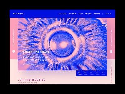 Enter the Nexus - Different vitamine c enter blue pink screen ui nexus