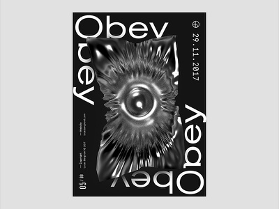Obey | Just Pixels Poster Series typography white black design graphic series poster pixels just obey