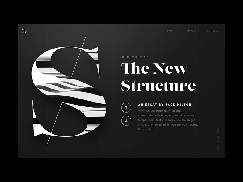 The New Structure - Web Design / UI berghoef lucas graphic webdesign structure web ui